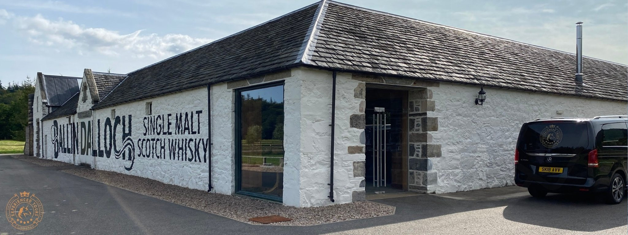 The front of Ballindalloch Distillery